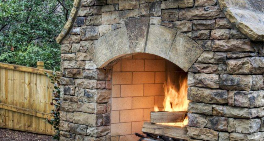 Build Outdoor Stacked Stone Fireplace Hgtv