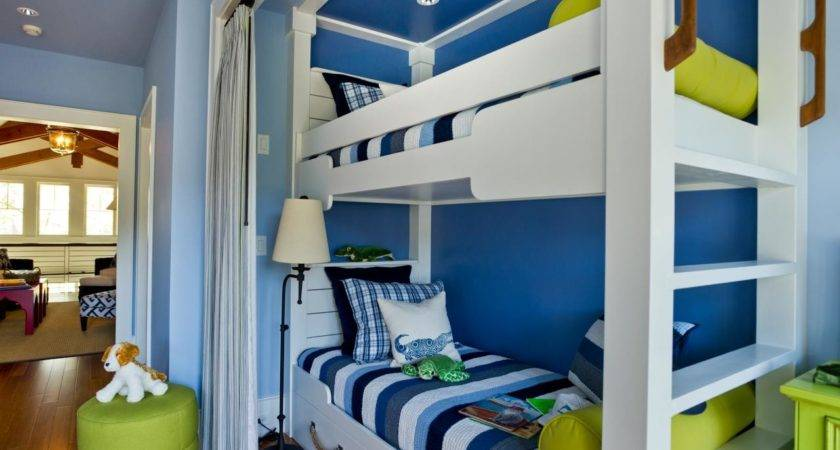 Bunk Bed Niche Happy Beach Inspired Color Palette