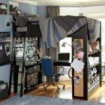 Bunk Bed Workspace Boys Room Interior Design Ideas