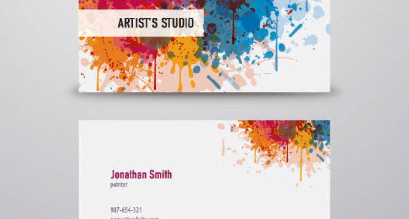 Business Card Designs Colourful
