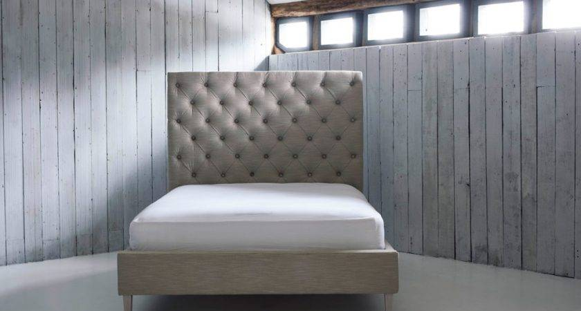 Buttoned High Headboard Upholstered Bed Isabella Love