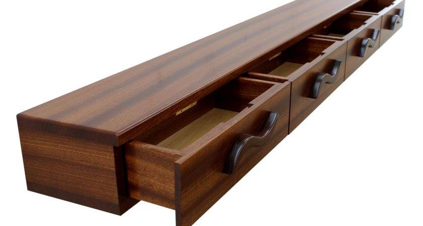 Buy Hand Crafted Drawer Floating Shelf Solid Wood