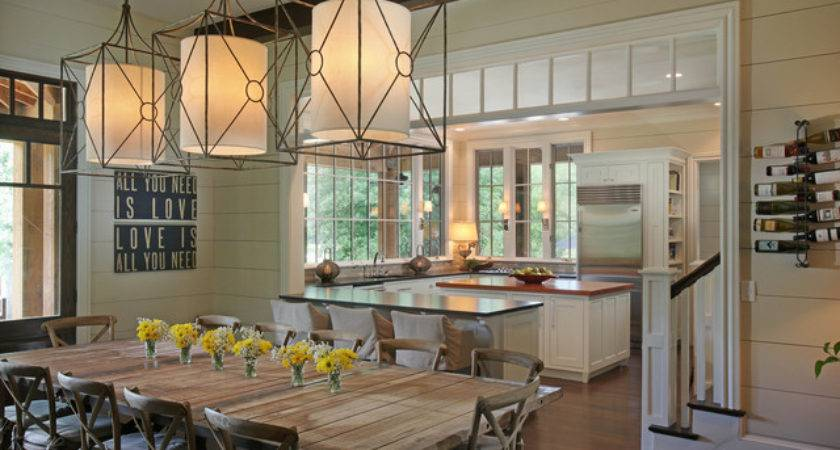 Casual Lake Rustic Dining Room Other Metro