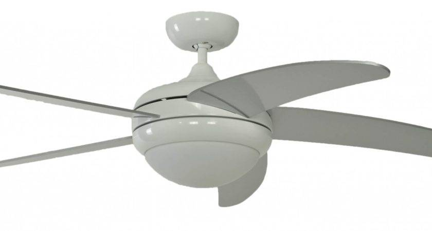 Ceiling Fan Makkura Pepeo White Silver Blades Without