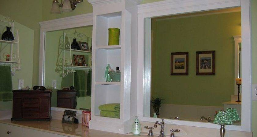 Changing Large Bathroom Mirror Without Removing