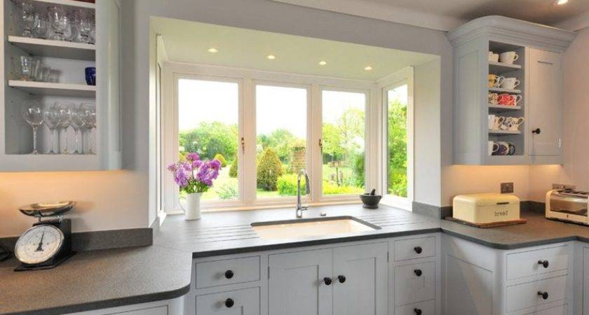 Charming Kitchen Spaces Bay Windows Home Design