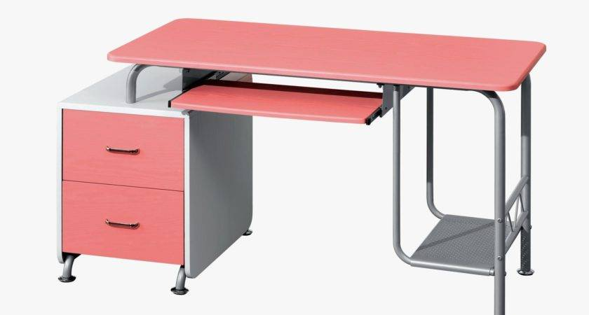 Charming Study Home Office Design Pink Teenage Desk