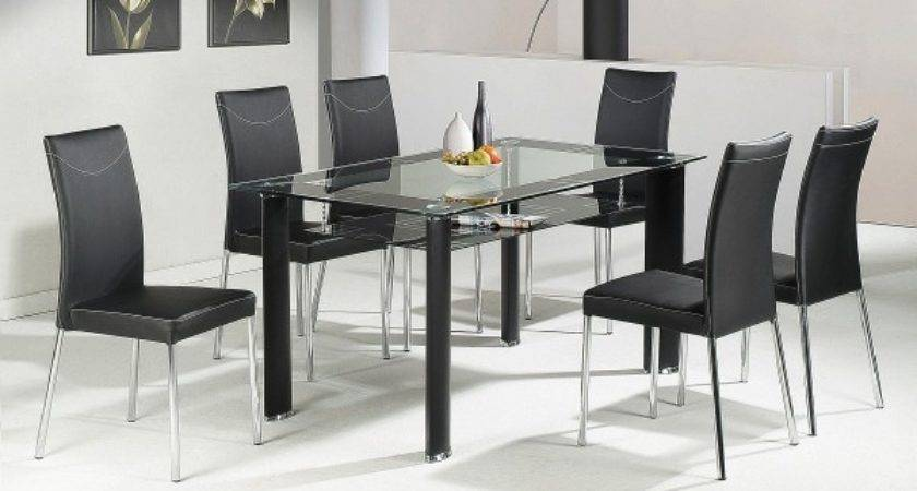 Cheap Heartlands Delano Glass Dining Table Set Chairs