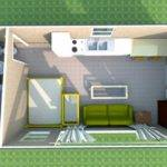 Cheap Two Bedroom Apartment Tiny Houses Wheels