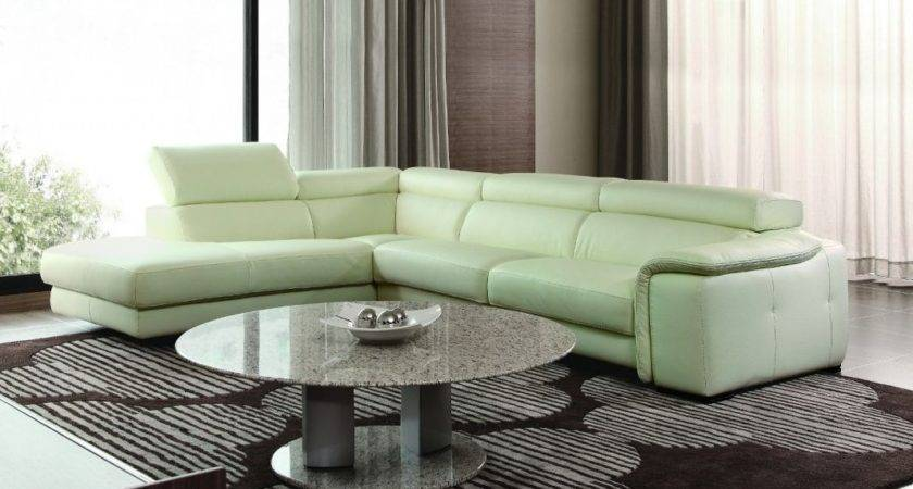 Chic Collection Modern Leather Sectional Sofas