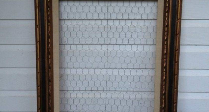 Chicken Wire Frame Jewelry Holder Display Wall