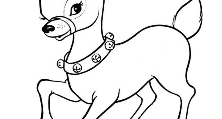 Christmas Reindeer Coloring Pages Kids