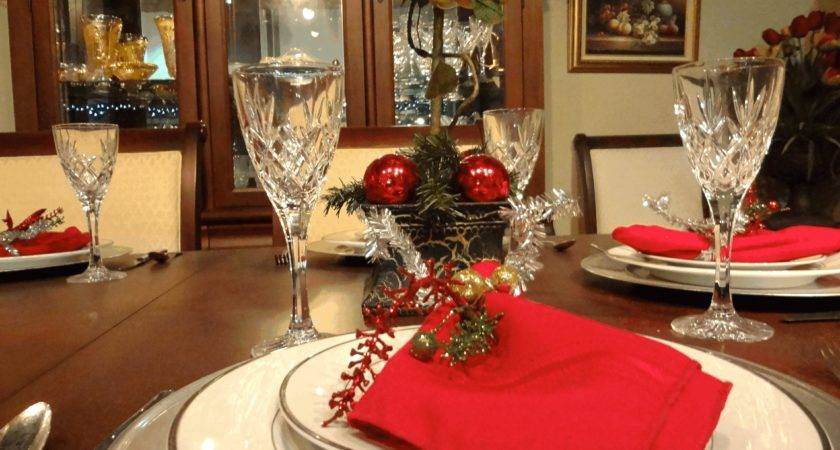 Christmas Table Decorations Ideas Round Back Dining Chairs