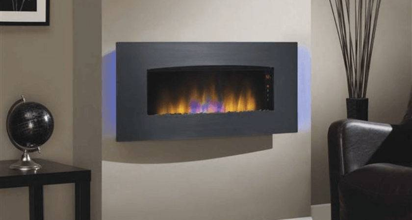 Classicflame Silver Transcendence Fire Display Black Wall