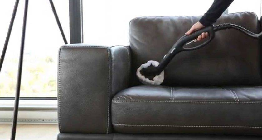 Clean Leather Sofa Steam Cleaner Youtube