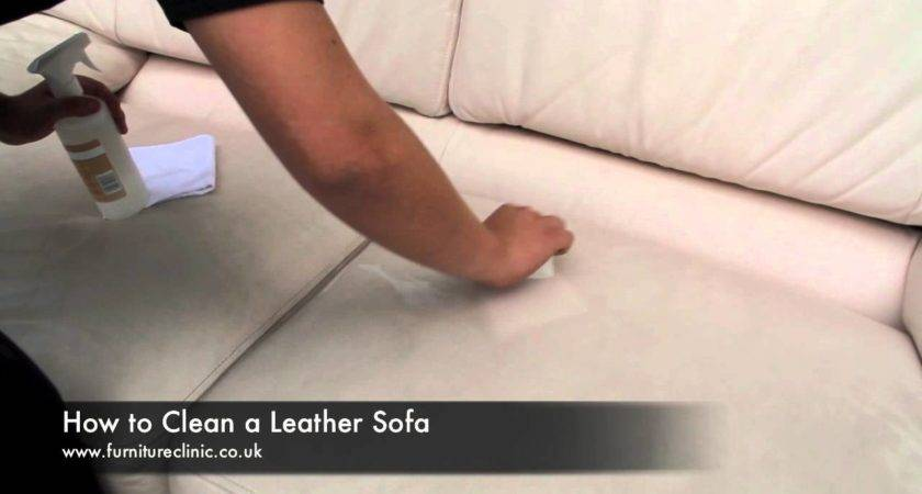 Clean Leather Sofa Youtube