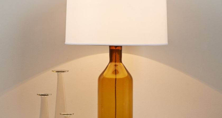 Clearly Colorful Bottle Glass Table Lamp Shades Light