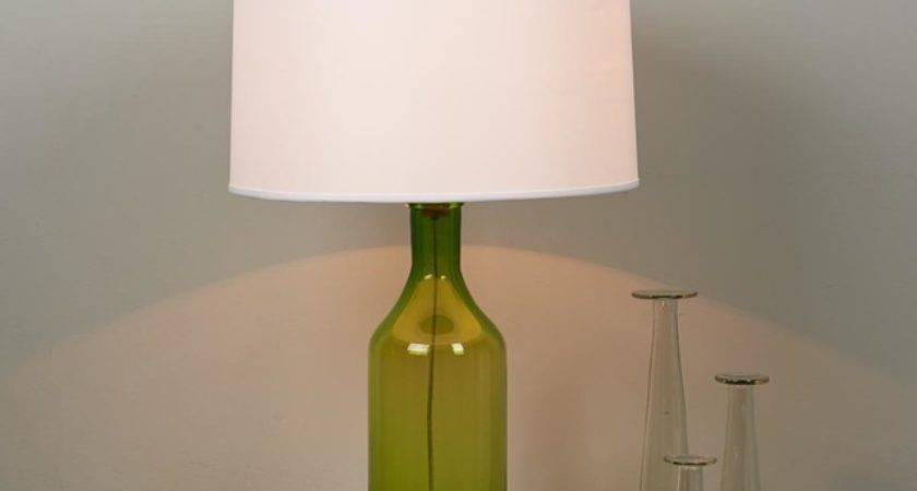 Clearly Colorful Bottle Glass Table Lamp Shades