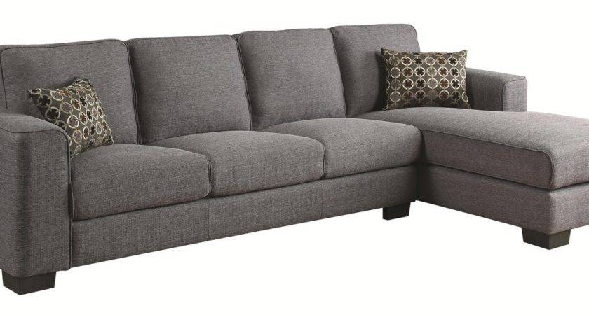 Coaster Norland Grey Fabric Sectional Sofa Steal