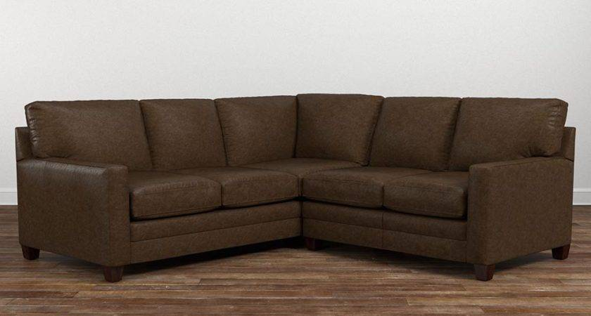 Cocoa Small Leather Shaped Sectional