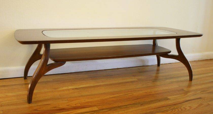 Coffee Table Glass Top Wood Base Rascalartsnyc