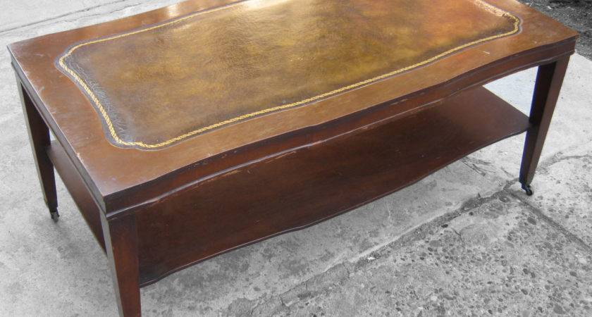 Coffee Tables Ideas Top Leather Table Antique