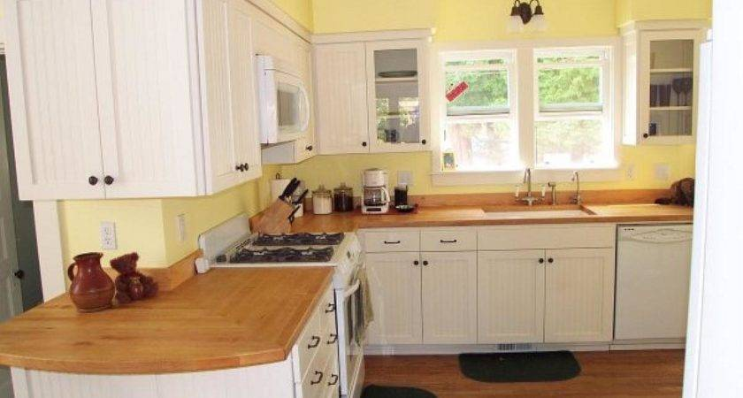 Color Walls White Kitchen Cabinets
