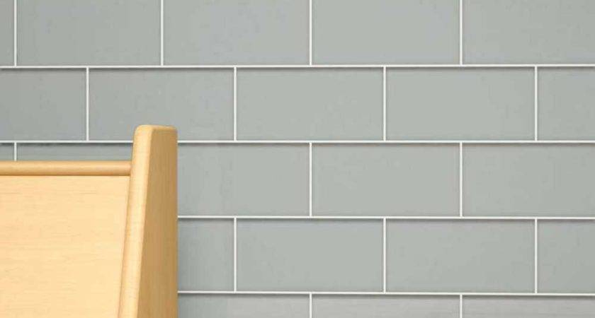 Colored Subway Tile Lush Cloud White Glass