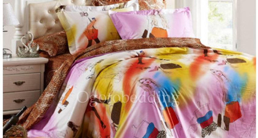 Colorful Patterned Pretty Unique Teen Queen Bedding Sets