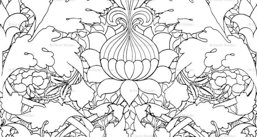 Coloring Pages William Morris Art