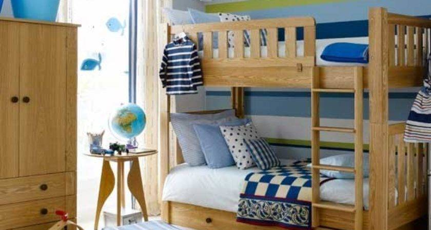 Colourful Boys Bedroom Bunks Ideas