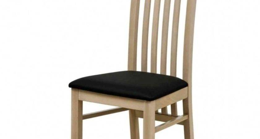 Comfortable Wood Unfinished Kitchen Chairs High Back
