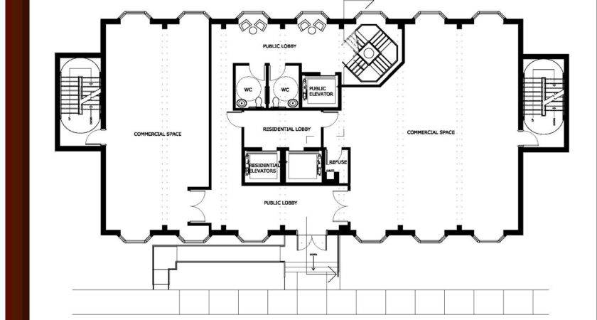 Commercial Office Building Plans First Floor Plan