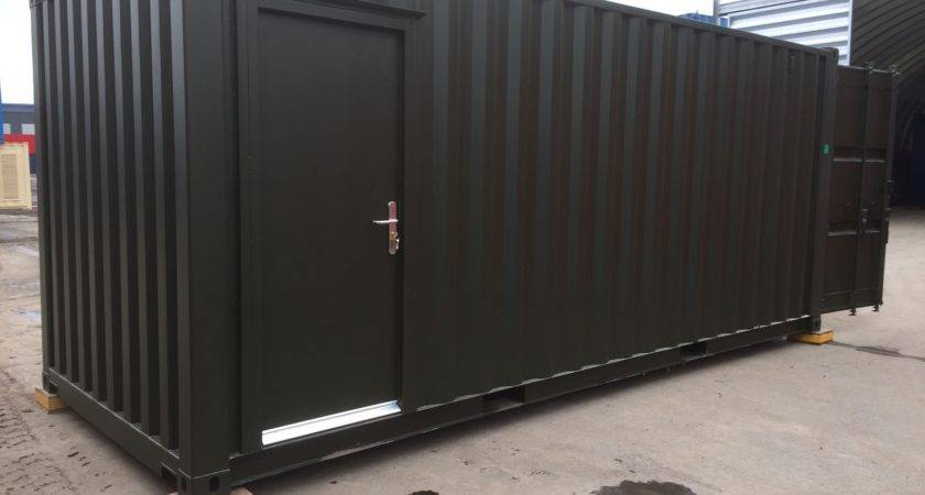 Container Converted Into Onsite Office