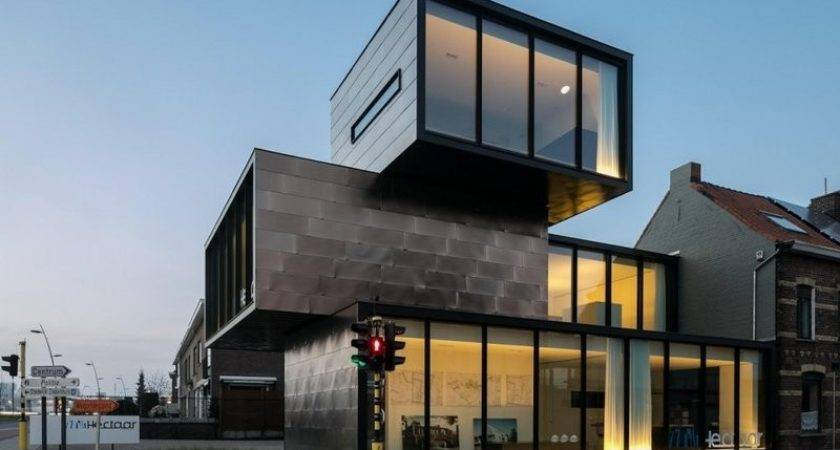 Container Shaped Office Building Multiple Fronts