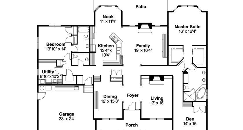 Contemporary Floor Plans New Homes