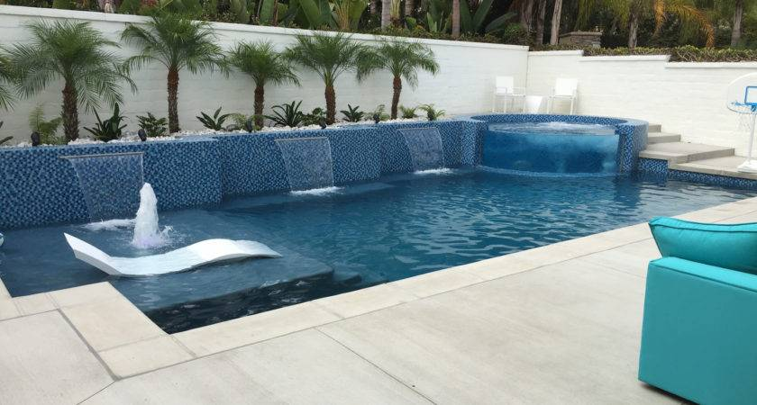 Contemporary Pool Designs Tempting Swimming