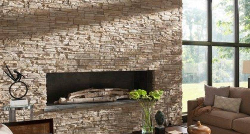 Contemporary Stone Fireplace Ideas Remodel