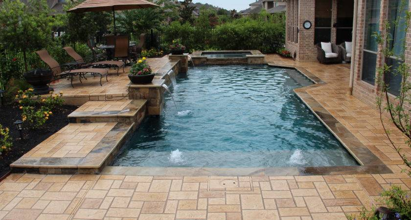 Contemporary Swimming Pools Design Custom Outdoors
