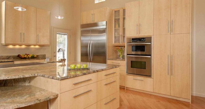 Contemporary Wooden Kitchen Cabinets Decoration House