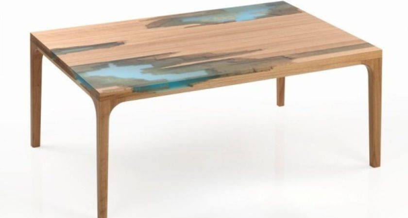 Cool Side Table Made Damaged Wooden Board