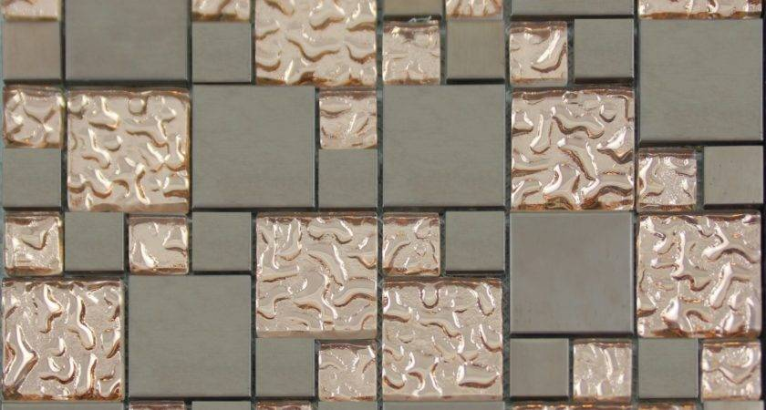 Copper Glass Porcelain Square Mosaic Tile Designs