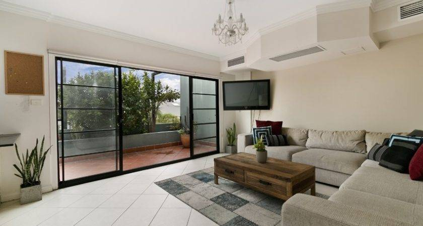 Couch Front Sliding Glass Door Large Living Room