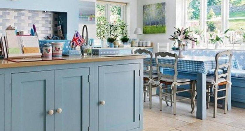 Country Blue Kitchen Home Design