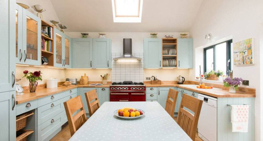 Country Blue Kitchen Ideas Complement House Style