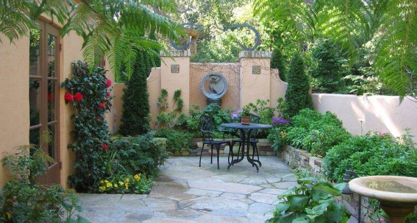 Courtyard Design Ideas Exterior Mediterranean Wood