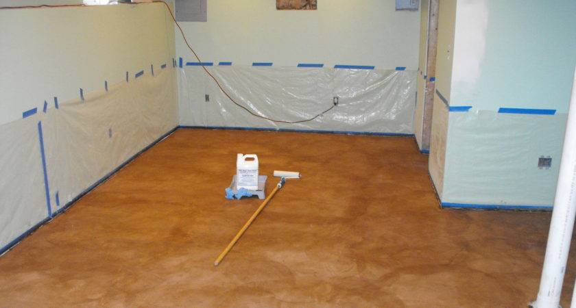 Cozy Concrete Stain Basement Floor