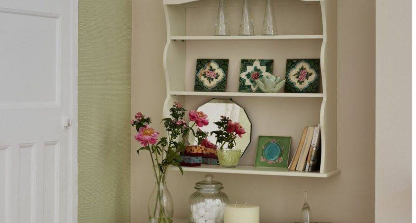 Cream Colored Wall Shelves