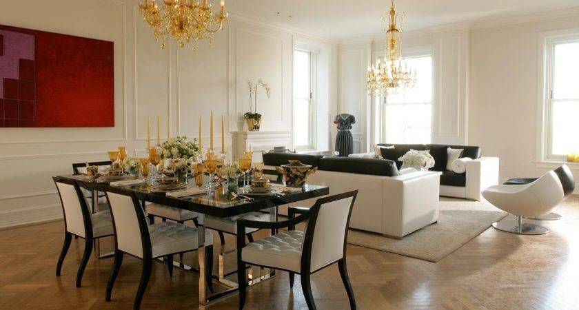 Creative Methods Decorate Living Room Dining Combo