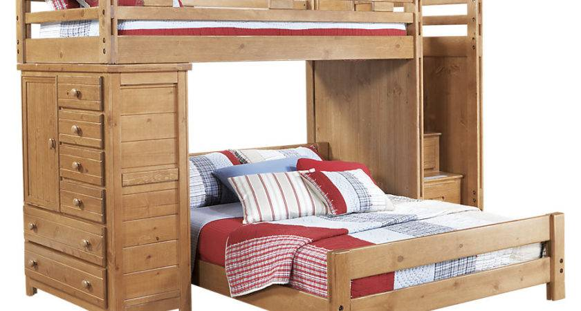 Creekside Taffy Twin Step Bunk Bed Chest Beds